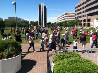 Marchers return to the starting point after March Against Monsanto on May 25, 2013 in Raleigh NC. Photo: Kay Whatley