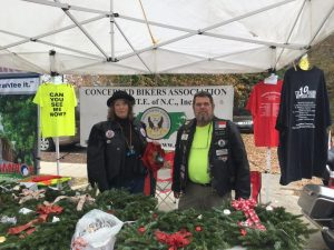 Concerned Bikers Association booth at the Pop-up Vendor Market. Photo: Kay Whatley