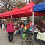 Vendors on Sycamore Street at the December 2, 2017 Pop-up Vendor Market, Zebulon NC. Photo: Kay Whatley