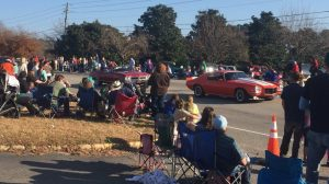 Classic cars in the 2017 Christmas Parade in Zebulon NC. Photo: Kay Whatley