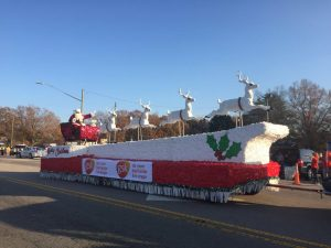 Santa arrived at the end of the 2017 Christmas Parade in Zebulon NC. Photo: Kay Whatley