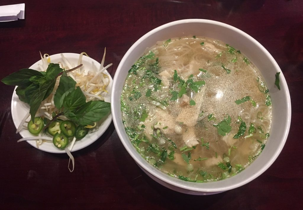 A chicken pho served at iPho in Knightdale NC. Photo: Kay Whatley