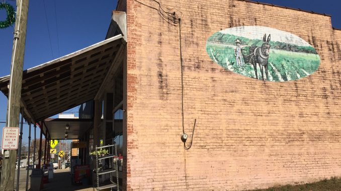 Mural on Manning Brothers General Merchandise, Middlesex, North Carolina. Photo taken December 1, 2017 by Kay Whatley.