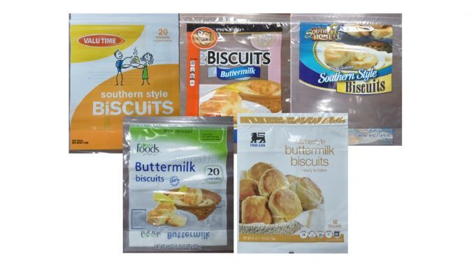 Five of the many biscuit labels under this recall. Source: US FDA