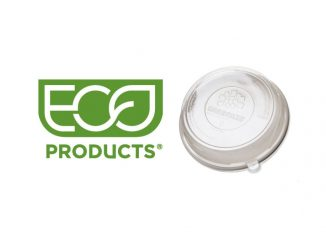Eco-Products produces foodservice packaging made from renewable and recycled resources. Garbanzo's new plates are made from sugarcane. Source: Eco-Products