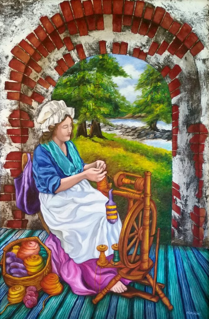 """Weaving The Yarn at Tar River NC"" by Clina Polloni."