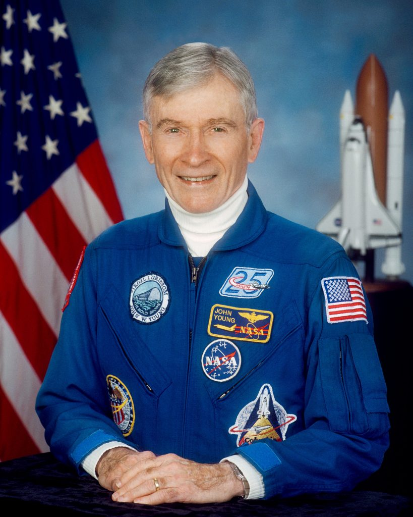 John Young's official astronaut portrait. Credit: NASA