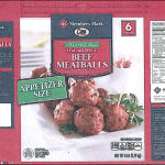 One of the meatball labels released with the recall. Source: USDA Food Safety and Inspection Service