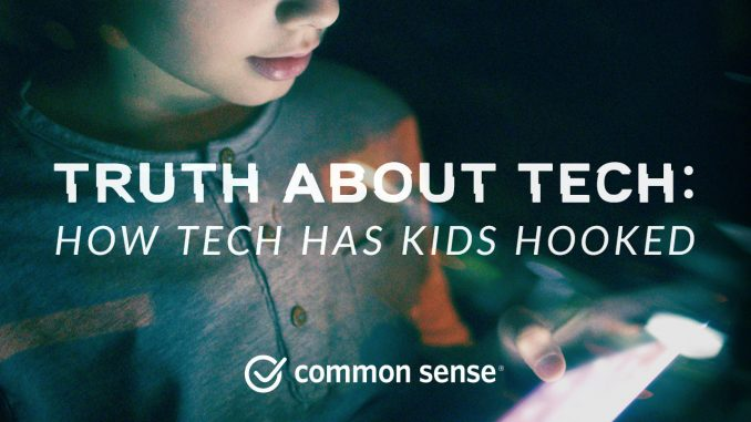 The campaign, Truth About Tech, will put pressure on the tech industry to make its products less intrusive and less addictive. Source: PRNewsfoto/Common Sense