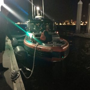 A Coast Guard 29-foot Response Boat-Small II boatcrew docks at Station St. Petersburg, Florida, March 4, 2018. The boatcrew arrived after rescuing seven people from a disabled and drifting 14-foot boat. Source: US Coast Guard