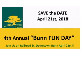 Bunn Fun Day returns on April 21, 2018.
