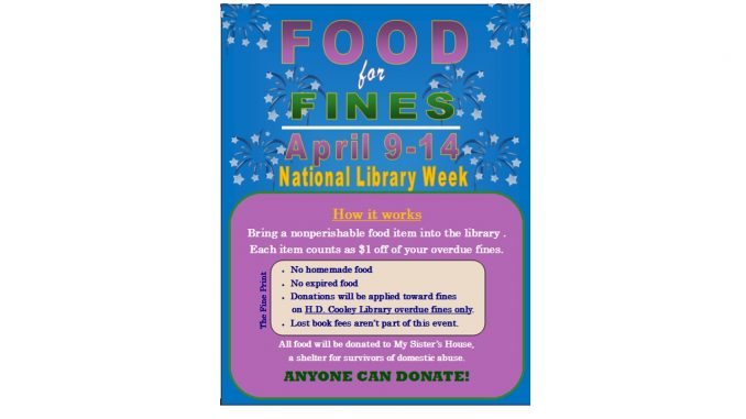 Food For Fines 2018. Source: Town of Nashville NC