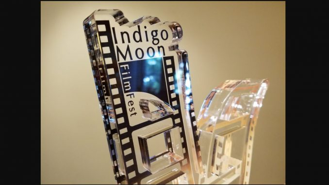 Indigo Moon Film Festival trophy. Source: GroundSwell Pictures