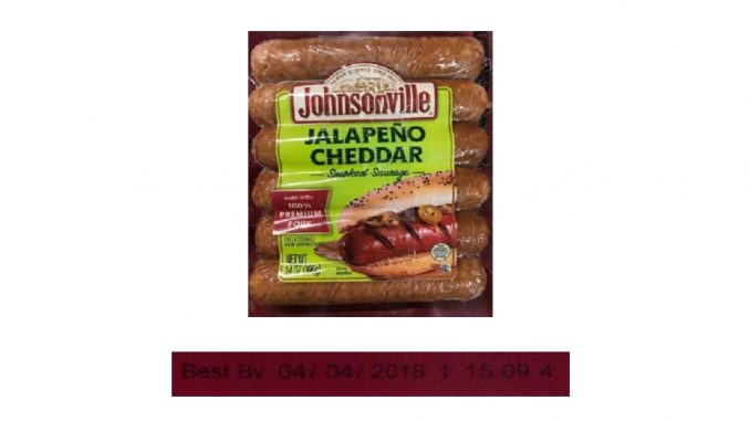 Label released with the Johnsonville recall March 2018. Source: USDA