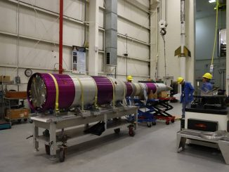 The Advanced Supersonic Parachute Inflation Research Experiment (ASPIRE) 2 payload undergoes testing in the sounding rocket payload facility at NASA's Wallops Flight Facility, Wallops Island, Virginia, prior to transport to the launch pad on Wallops Island. Credits: NASA/Berit Bland