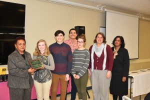 Volunteer of the Year - Nash Co. North Nash High School Environmental Club. Photo: Robin Cox, City of Rocky Mount NC