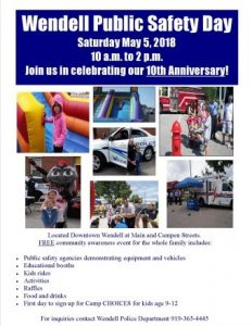 Wendell Public Safety Day flyer. Source: Sherry L. Scoggins, Town of Wendell, North Carolina
