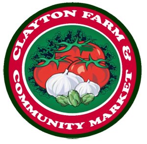 Clayton NC Farm and Community Market logo.