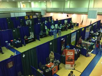 Portion of the booths set-up for 2017 Expo. Photo: Kay Whatley