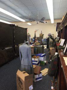 ECVMM exhibit packing underway. Photo: Kay Whatley
