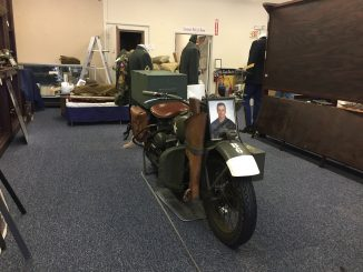 Motorcycles, memorabilia, uniforms, and more were packed and moved to the Edgecombe County Veterans' Military Museum temp quarters. Photo: Kay Whatley