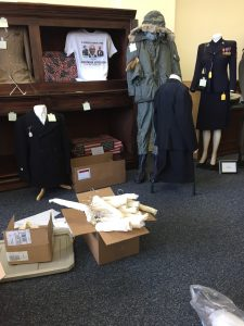 ECVMM Uniforms being prepared for storage. Photo: Kay Whatley