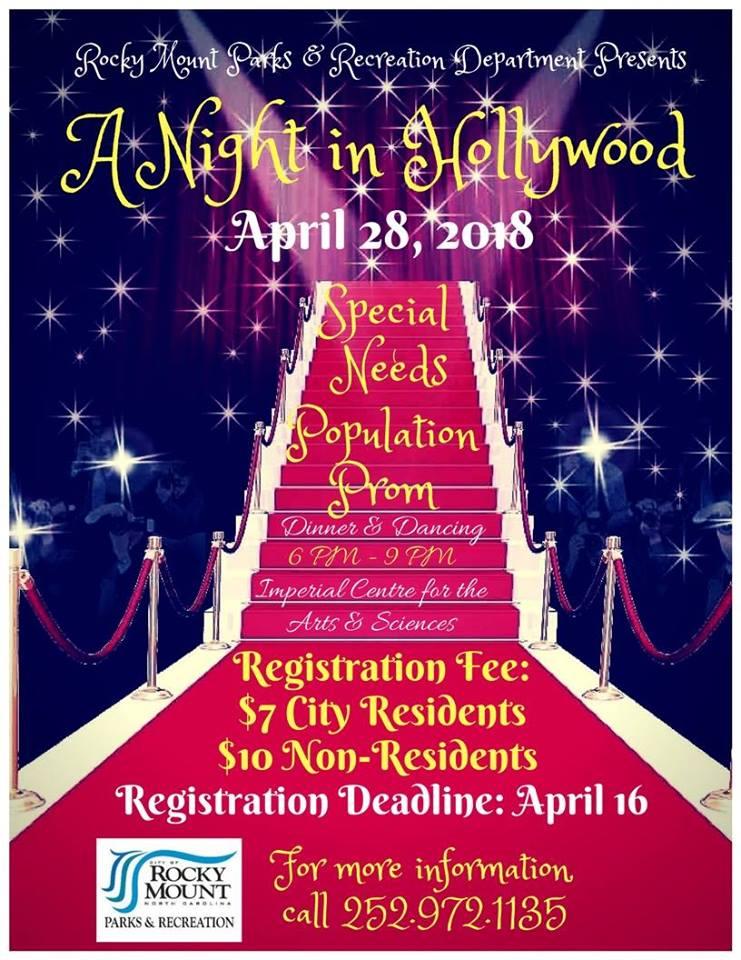 2018 Special Needs Population Prom flyer. Source: City of Rocky Mount, North Carolina