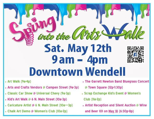 Spring Into The Arts Walk 2018. Source: Town of Wendell, North Carolina