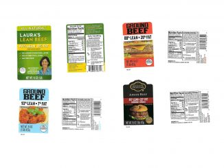 A few of the ground beef labels released with the recall. Source: USDA FSIS