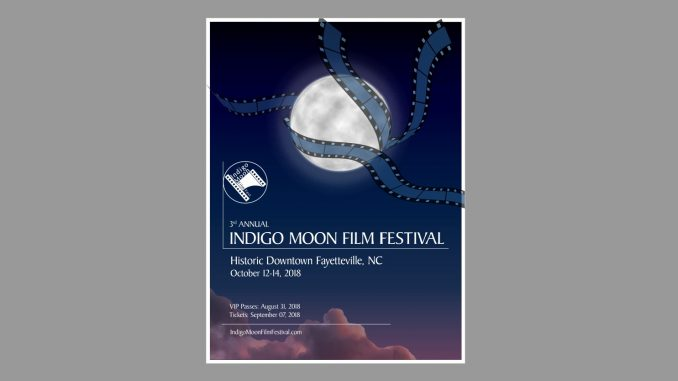 Winning poster design for Indigo Moon Film Festival 2018. Source: GroundSwell Pictures, Fayetteville NC.