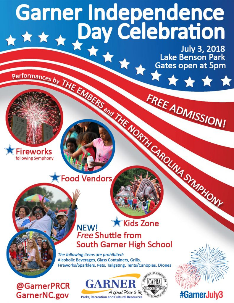 Garner Independence Day Celebration 2018. Source: Town of Garner, North Carolina