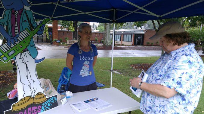 Zebulon Community Library (Wake County Public Libraries) booth at the Zebulon Farm Fresh Market. Source: Cindy Brookshire