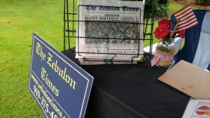 The Zebulon Times booth at the Zebulon Farm Fresh Market. Source: Cindy Brookshire