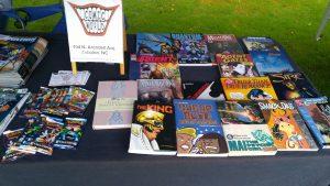 Comic World booth at the Zebulon Farm Fresh Market. Source: Cindy Brookshire