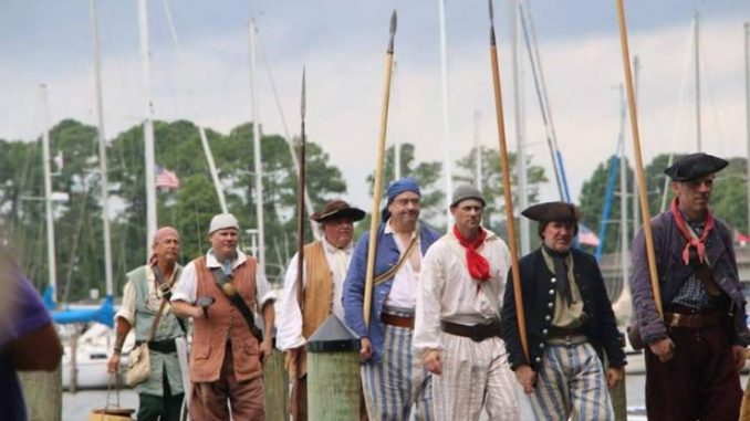 Histsoric Bath NC Pirates in the Port. NC. Source: Department of Natural and Cultural Resources