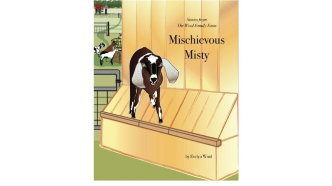 Mischievous Misty: Stories From The Wool Family Farm (Volume 1) book cover, published 2018. Source: Amazon.com