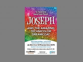 Joseph and the Amazing Technicolor Dreamcoat will be performed at the Imperial Centre July 20-22, 2018
