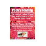 Poetry Reading 2018 flyer. Source: Public Library of Johnston County and Smithfield NC