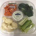 One of several vegetable trays identified with the US FDA Del Monte recall and outbreak.