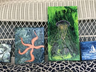 Examples of acrylic pouring. Source: Donna Campbell Smith