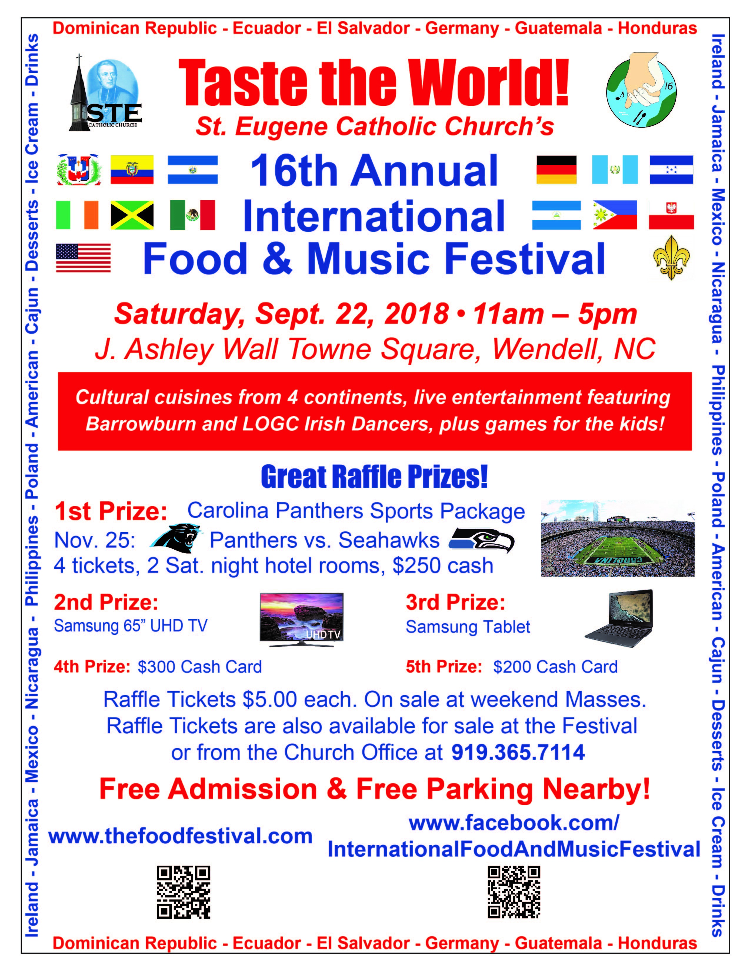 International Food and Music Festival IFMF 2018 flyer. Source: Thomas A. Zang, Jr. (St. Eugene Catholic Church)