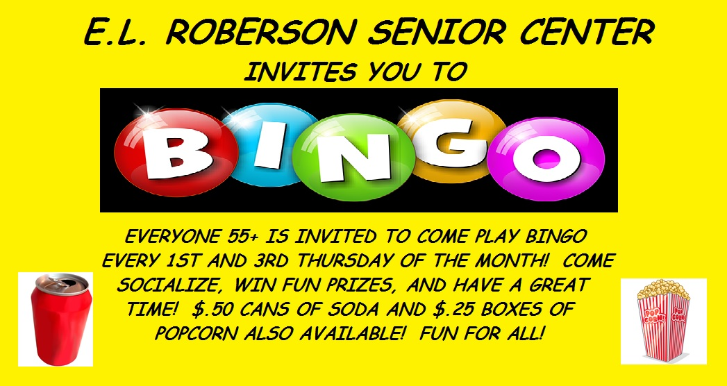 Bingo For Seniors is held twice each month. Source: Town of Tarboro, North Carolina