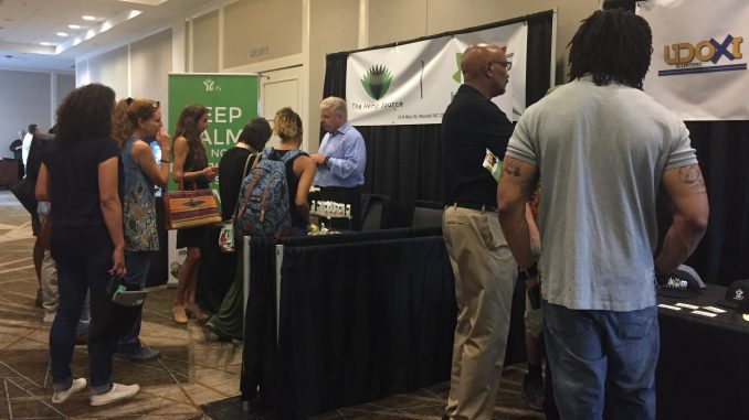 Expo vendors at the inaugural Carolina Hemp Festival and Expo 2018. Photo: Kay Whatley