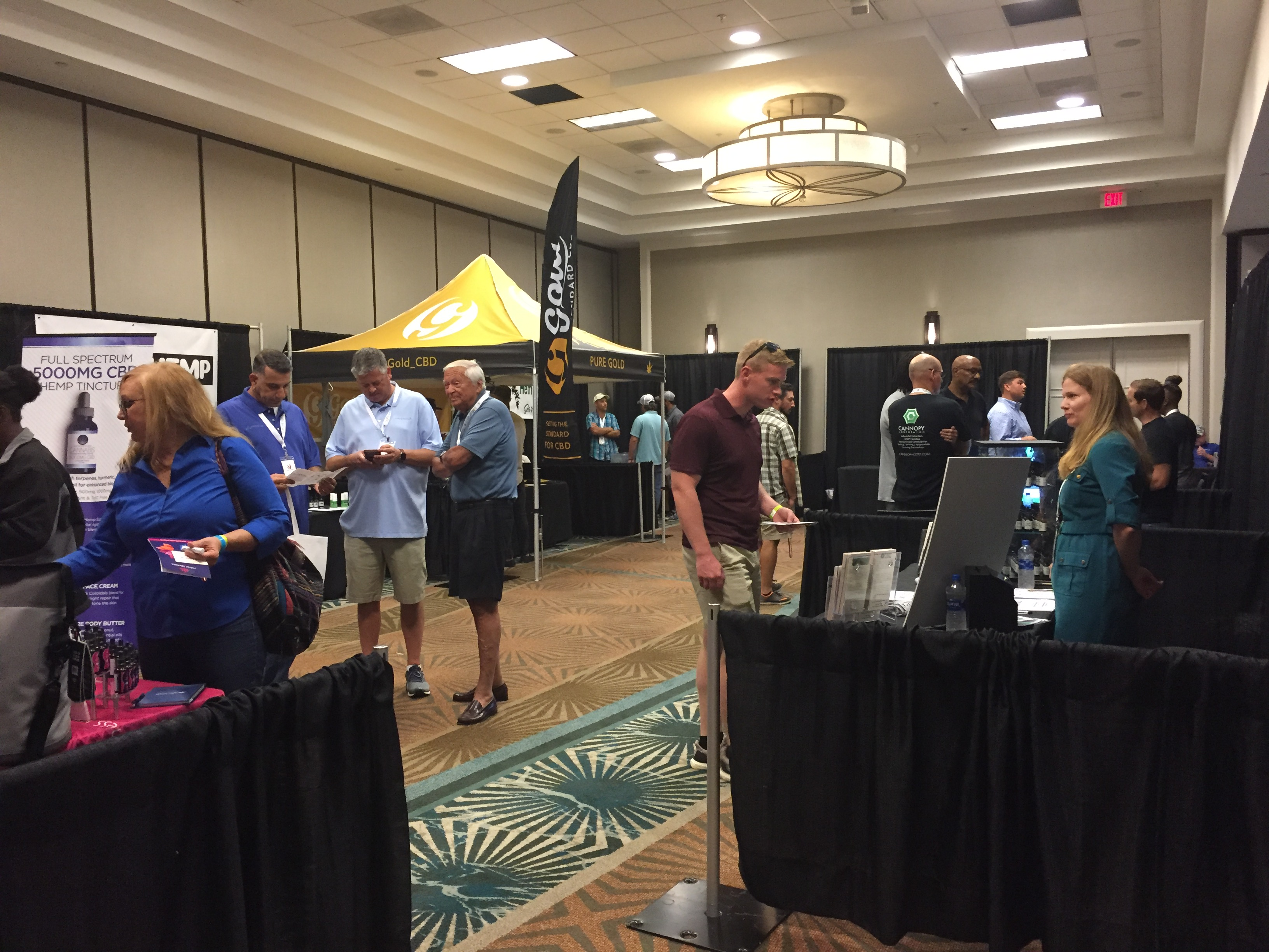 Part of the Expo room during networking time at the inaugural Carolina Hemp Festival and Expo 2018. Photo: Kay Whatley