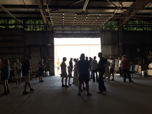Start of the hemp farm tour in Bunn NC. Photo: Kay Whatley
