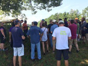 Farm tour in Bunn NC by hemp farmer Mann Mullen . Photo: Kay Whatley