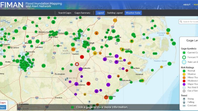 NC Emergency Management - Flood Inundation Mapping and Alert Network screenshot