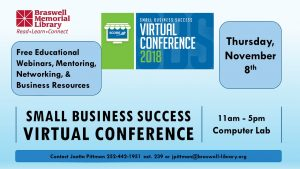 Virtual conference announcement. Source: Joetta L. Pittman, Braswell Memorial Library, Rocky Mount NC