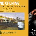 Rocky Mount Event Center Grand Opening flyer. Source: City ofRocky Mount NC