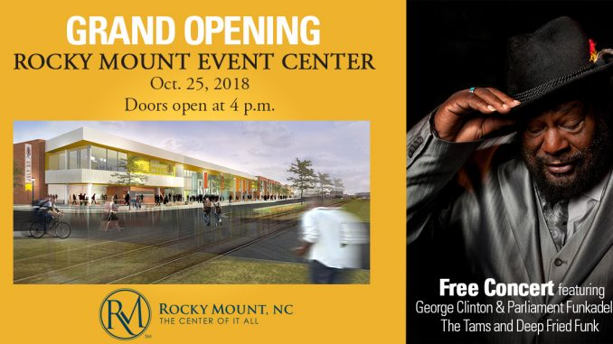 Rocky Mount Event Center Grand Opening flyer. Source: City of Rocky Mount NC